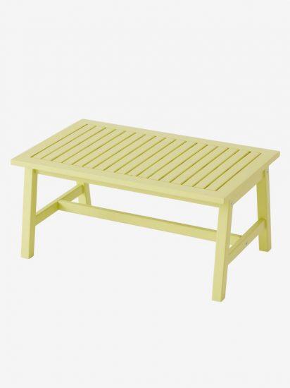 Table basse en bois vert pistache