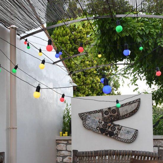Guirlande lumineuse 'Guinguette' multicolore