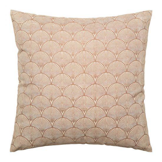 Coussin en coton à motif coquillage