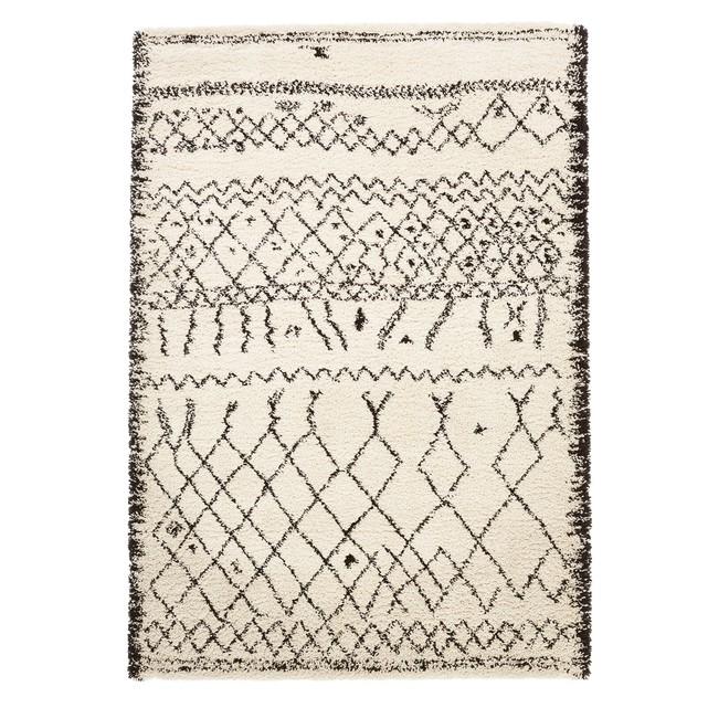 Tapis style berbère 'AFAW' en polypropylène aspect laineux