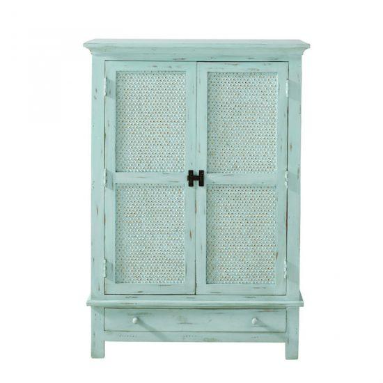 Cabinet 'Celadon' en manguier massif bleu
