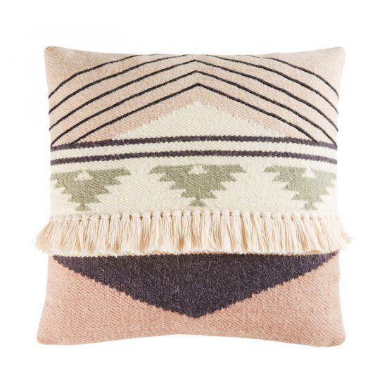 Coussin berbère 'Itza' en laine et coton