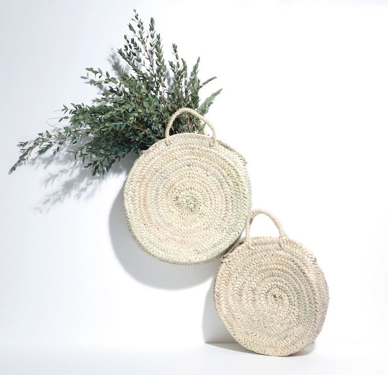 Panier rond naturel medium