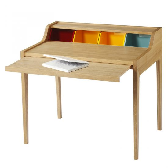 Bureau 'Remix' en chêne massif (H 88 x P 72 x l 100 cm), design Gesa Hansen, The Hansen Family, 1360€