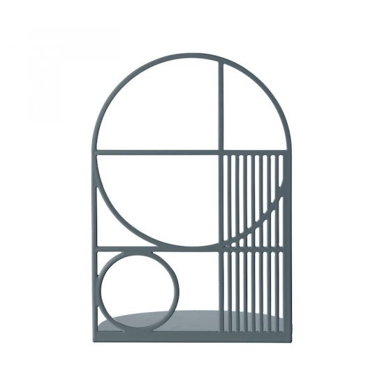 Serre-livres 'Outline' en métal bleu foncé (L 14 x H 20 x D 14 cm), Ferm Living, 36€
