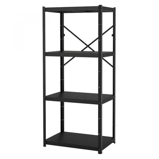 Etagère 'BROR' en acier noir (85 x 40 x 190 cm), IKEA, 94€