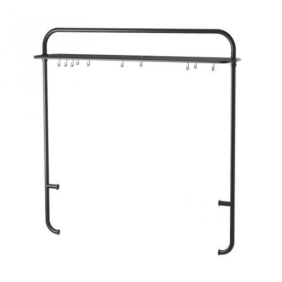 Support pour îlot de cuisine 'VADHOLMA' en métal noir (P 32 x L 143 x H 146 cm), IKEA, 80€