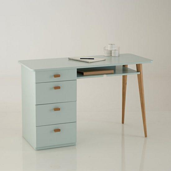 Bureau 4 tiroirs 'JIMI' en pin et MDF (L 120 x H 75 x P 52 cm), La Redoute Intérieurs, 363€