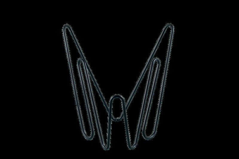 Porte-documents 'MWW' en métal noir (20 x 16 x 20 cm), Adonde, 35€