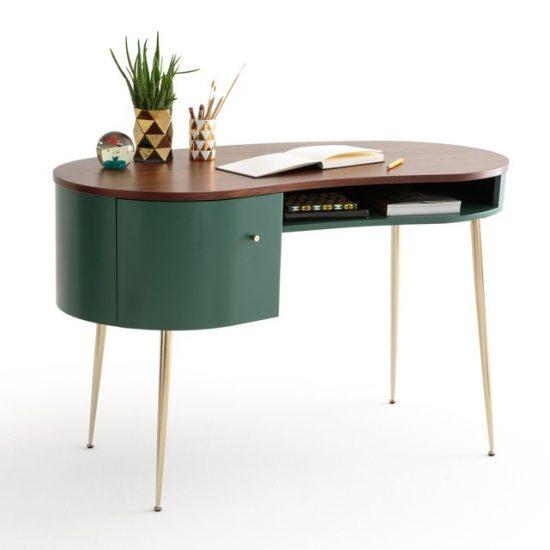 Bureau vintage 'Topim' en MDF et métal (L 120 x H 75,3 x P 60 cm), La Redoute Intérieurs, 563€