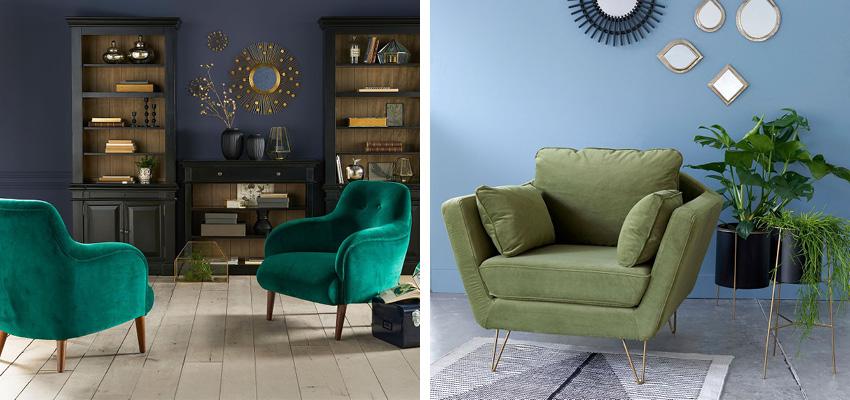 o trouver un fauteuil en velours d co id es. Black Bedroom Furniture Sets. Home Design Ideas