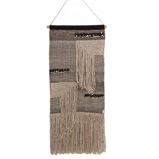 Décoration murale ethnique en laine et coton (50 x 120 cm), A.U Maison, 99€