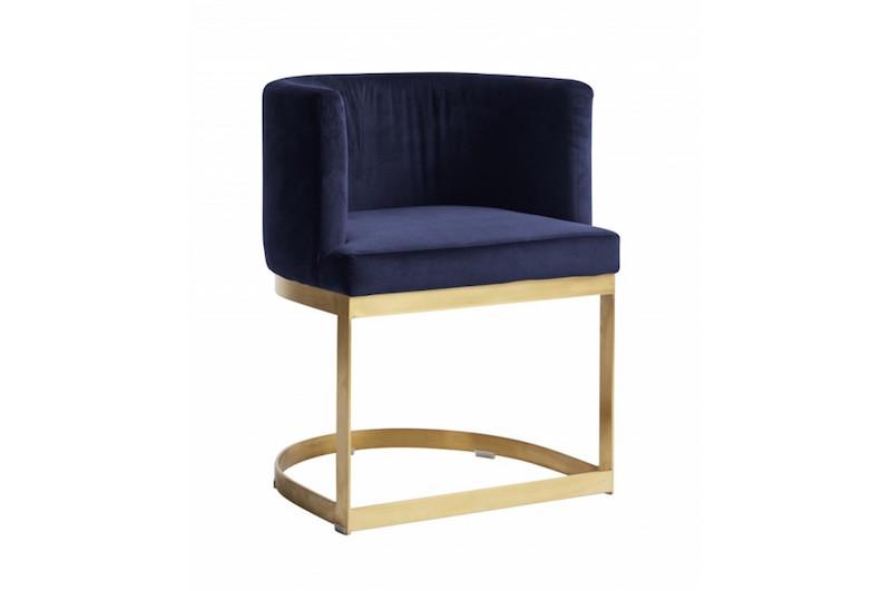 Fauteuil 'Lounge' en velours bleu (H 75 x l 58 x P 50 cm), Nordal, 748€