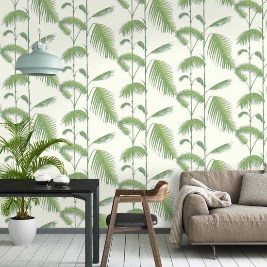 o trouver du papier peint motif v g tal d co id es. Black Bedroom Furniture Sets. Home Design Ideas
