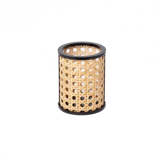 Pot à crayons 'KANNE' en cannage et contreplaqué (Ø 8 x 10.2 cm), DOIY, 24,90€