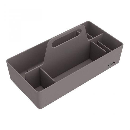 Rangement 'Toolbox' en plastique ABS gris (L 32,7 x l 16,7 x H 15,6 cm), Vitra, 29€