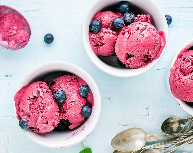 Recette express : un sorbet fruits rouges healthy