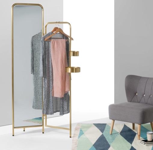 Miroir valet 'Alana' en laiton brossé (201 x 59 x 15 cm), Made, 399€