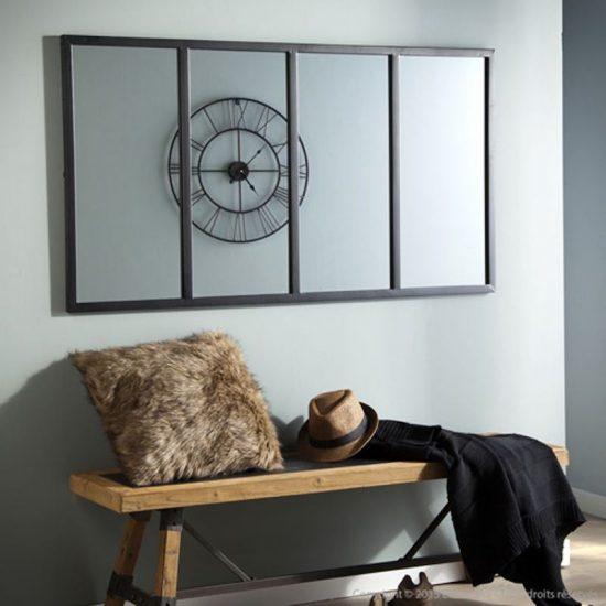 Miroir atelier verrière horizontale (90 x 60 cm), Decoclico, 119€