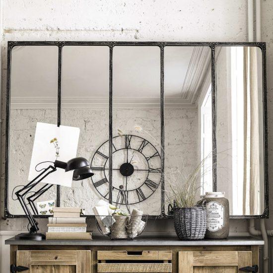 Miroir 'Cargo' en métal (180 x 124 cm), Maisons du Monde, 299€