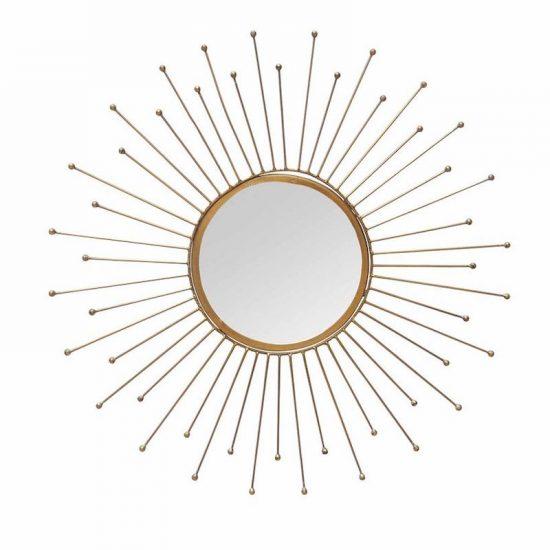 Miroir soleil en métal doré 'Halo' (D 60,5 cm), Chehoma, 55€