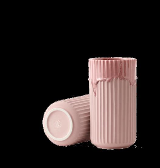 Vase 'Glaze Drip' en porcelaine rose