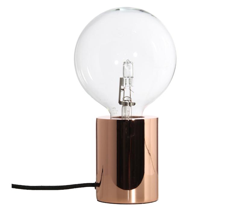 Lampe de table 'Bristol' en cuivre (D 7,5 x H 10 cm), Frandsen, 92,50€