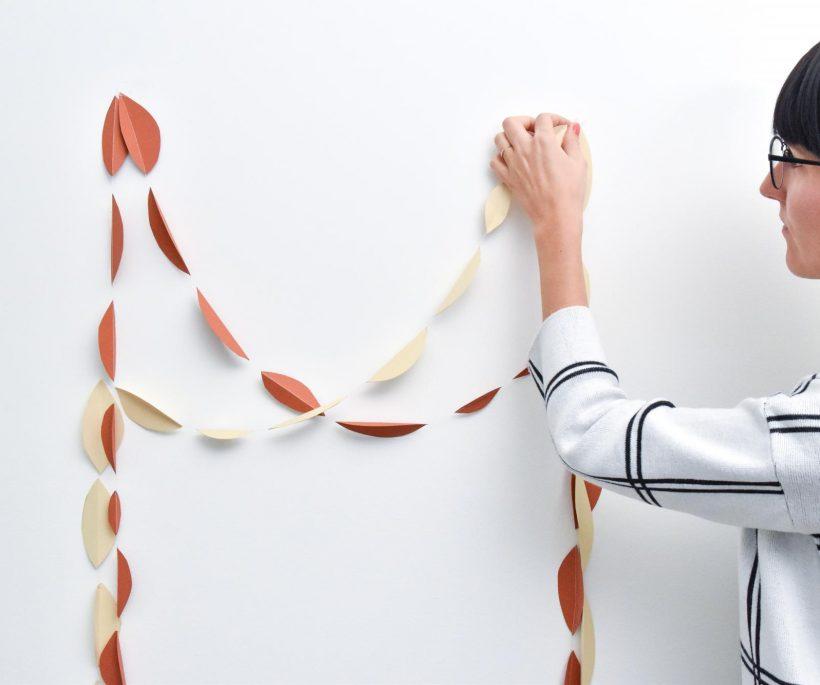 DIY : une guirlande automnale en papier