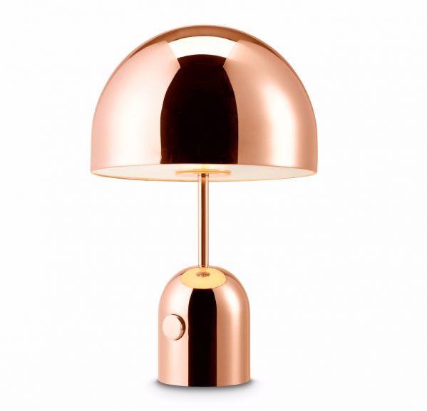Lampe 'Bell Table' en acier cuivré (H 44 x D 28 cm), Tom Dixon, 576€