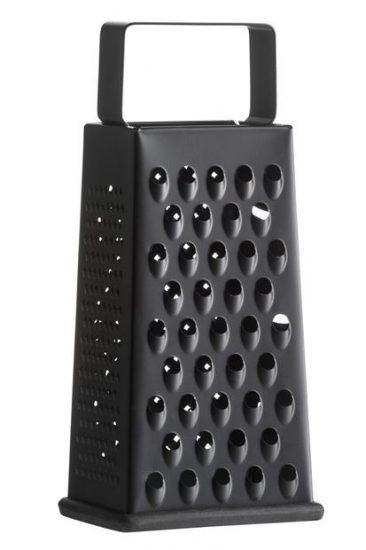 Râpe en métal noire (24 x 11 x 8,5 cm), Casa, 6,99€