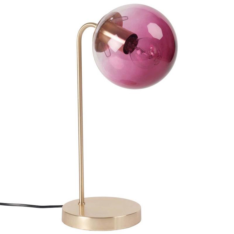 lampe boule rose