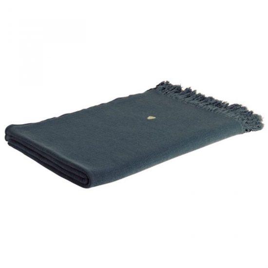 Plaid en coton texturé 'Eva' ardoise (140 x 200 cm), La Cerise sur le Gâteau, 90,30€