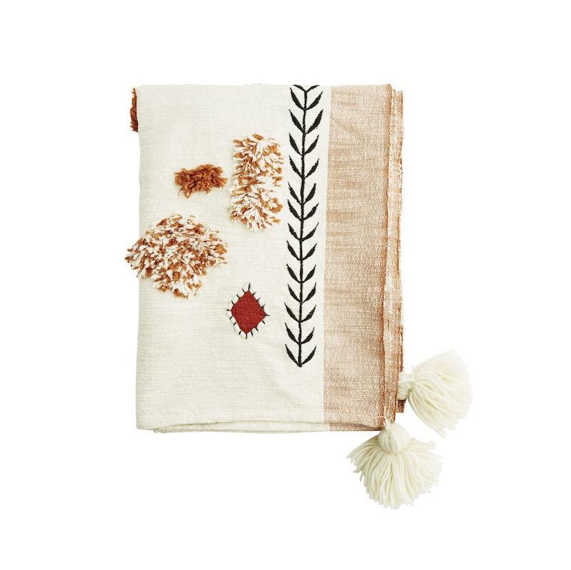 Plaid 'Throw' en pur coton (125 x 175 cm), Madam Stoltz, 118€