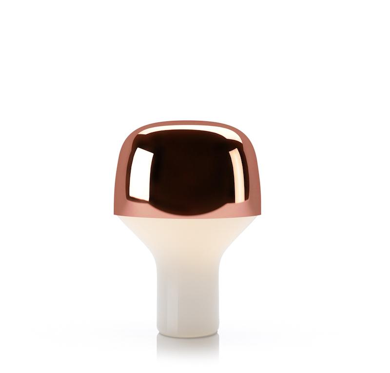 Lampe de table cuivrée 'Cap' (H 23 x D 16 cm), TEO, 161€
