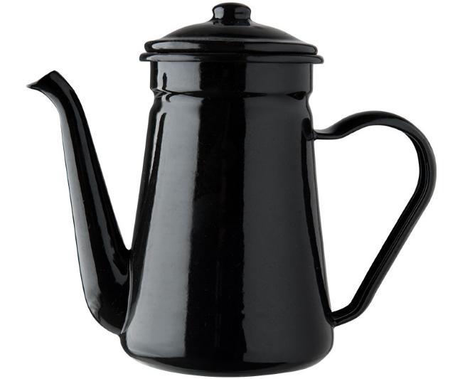 Théière en émail noir (H 21 x L 19 cm), Le Joli Shop, 24€