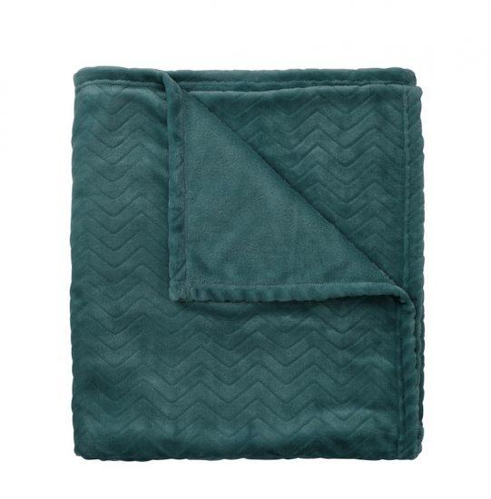 Plaid en polaire vert (130 x 150 cm), Hema, 14€