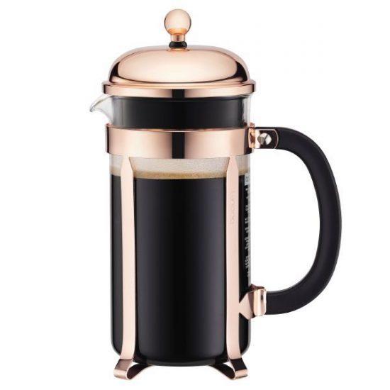 Cafetière à piston 'Chambord' (L 17,1 x P 10,5 x H 24,5 cm), Bodum, 41,95€Cafetière à piston 'Chambord' (L 17,1 x P 10,5 x H 24,5 cm), Bodum, 41,95€