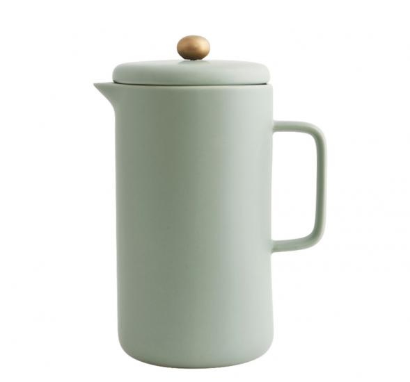 Cafetière à piston 'Pot' en porcelaine (D 10 x H 20 cm), House Doctor, 53€