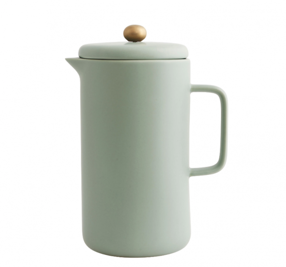 Cafetière à piston 'Pot' en porcelaine (D 10 x H 20 cm), House Doctor, 53€
