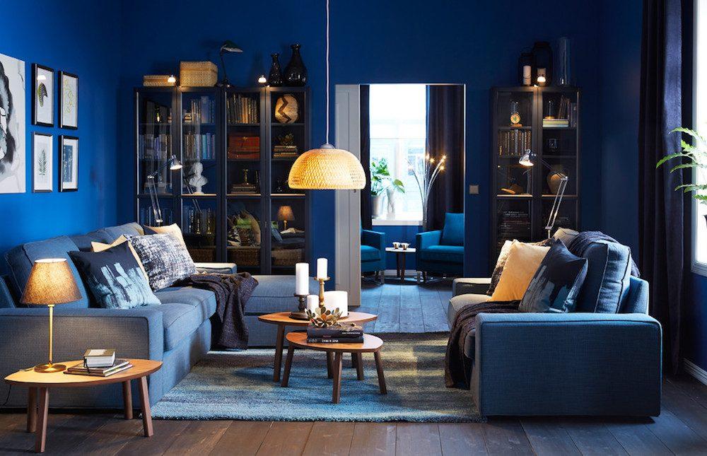 Décoration Du Salon : Cet Hiver, On Adopte Le Bleu Foncé