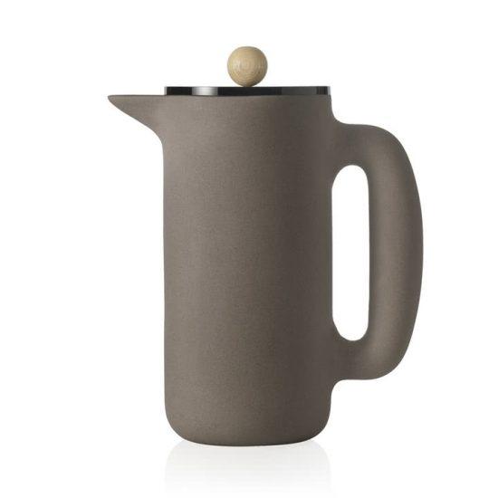 Cafetière 'Push' en grès gris pierre (D 10 x H 20 cm), Muuto, 99€