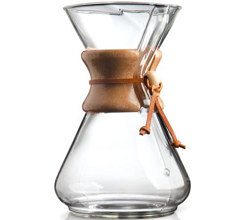 Cafetière à filtre en verre et bois (125 cl), Chemex, 49,90€
