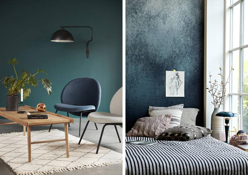 Décoration du salon : cet hiver, on adopte le bleu foncé - Déco Idées