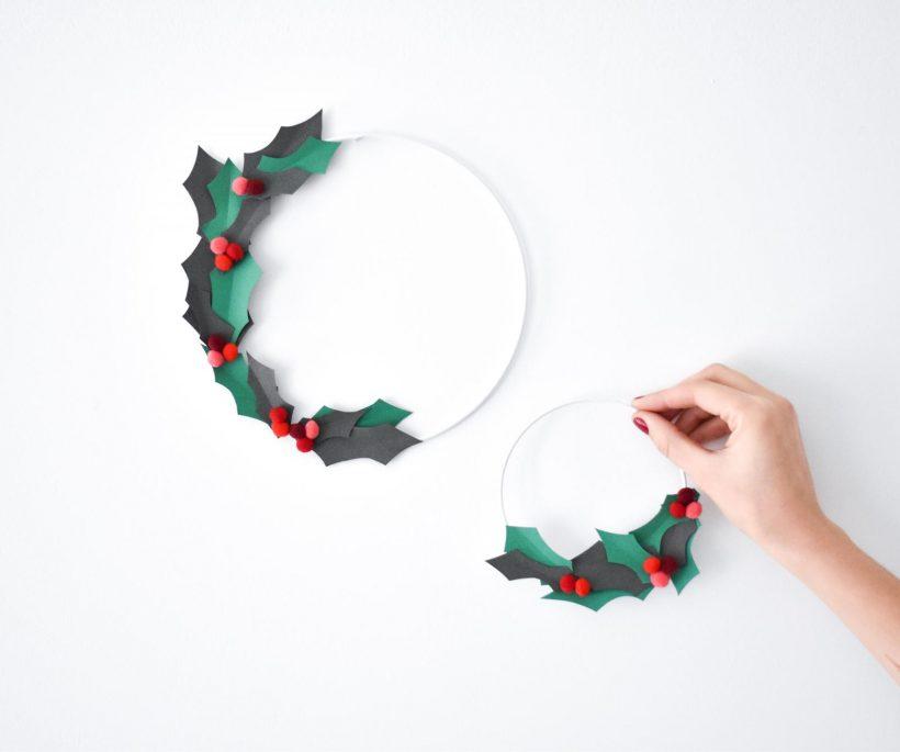 DIY : une couronne de houx en papier