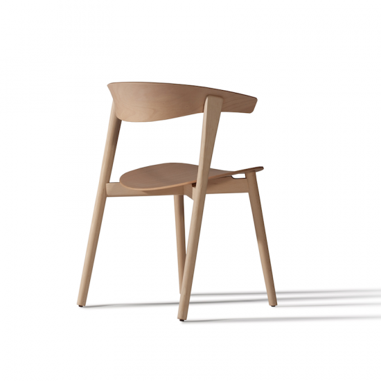 Chaise 'Nix' en bois de hêtre (H 77 x L 59 x P 51 cm, designPatrick Norguet, Capdell, 674€