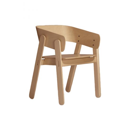 Chaise 'Polo' en bois de hêtre, designYonoh (H 73 x L 54 x P 50 cm), Capdell, 482€