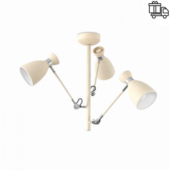 Plafonnier rétro en métal beige (H 51 x L 74 x P 74 cm), designAlex & Manal Lluscà, Faro Barcelona, 116€