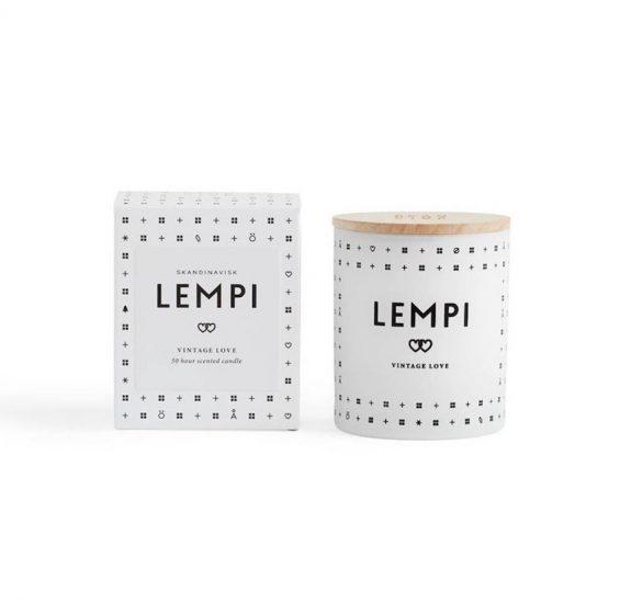 Bougie parfumée 'Love' avec couvercle (D 7,6 x H 9,2 cm), Skandinavisk, 24,50€