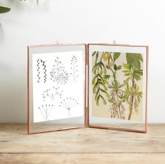 Cadre photo à poser en verre et mét (26 x 17 cm), Cyrillus, 21,90€