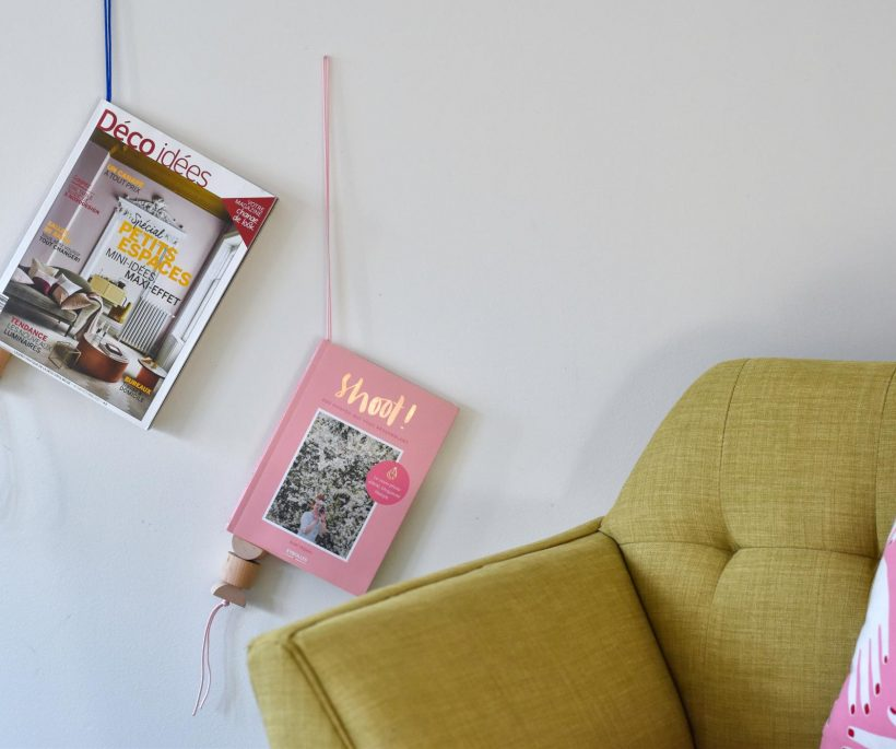 Ikea hack : suspendre les livres avec style